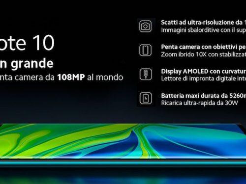 Xiaomi Mi Note 10 ufficiale: specifiche, prezzo e data di uscita