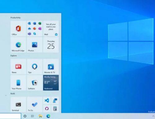 Su Windows 10 si rinnova il menu Start